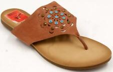 Lucky Brand Breese Brick Brown Flat Thong Women's Sandals Sz 9.5 M