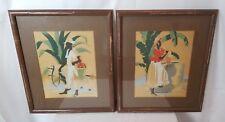 Pair or R.V Mandeville Haitian Carribean Screen Prints