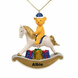 Personalised Rocking Horse Decoration by Suki Gifts