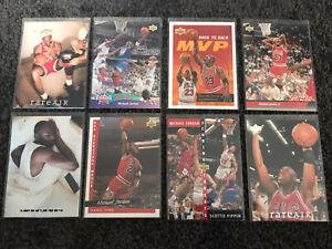 8 Jordans Nba Cards, MVP RareAir Hangtime Jordan Lot (8) PSA ??