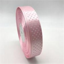 """5yds 1"""" 25mm Polka Dot Satin Ribbon Hair Bow Wedding Decoration DIY Sewing #CA"""