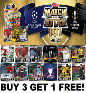 Topps MATCH ATTAX 101 SHINY FOILS CARDS 2020-21 2021 BUY 3 GET 1 FREE  #129+