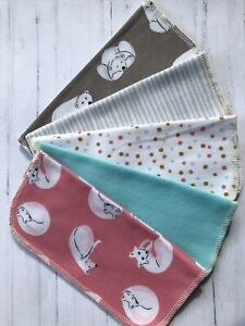 Organic Cotton Wipes Eco Washable Reusable Baby Facial Family Hankie Pack Of 25