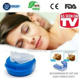 NHS ANTI-SNORE WIZARD PREMIUM MOUTHPIECE - MANDIBULAR SNORING DEVICE SLEEP AID