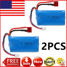 2pcs 7.4V 1500mAh Battery with T Plug for FEIYUE FY-03 Wltoys 12428 RC Car Z1R2