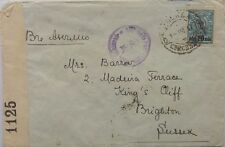 RUSSIA 1917 MOSCOW CENSORED COVER TO ENGLAND WITH BRITISH CENSOR LABEL