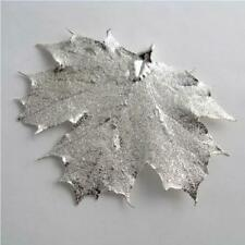 real maple silver leaf pendant - real leaf jewellery includes thong and box