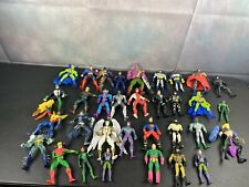 DC Comics, Mixed Lot of 33 Vintage Used Action Figures Cards And Stands
