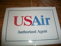 VINTAGE~US AIR~AIRLINES AUTHORIZED TRAVEL AGENCY DECAL NEW~OLD LOGO