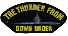 USN NAVY THE THUNDER FROM DOWN UNDER SUBMARINE PATCH BUBBLEHEAD DOLPHINS