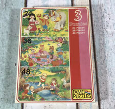 Vintage Fame Puzzles 3 Kids Jigsaw Puzzle New And Sealed Animals Farm Cake