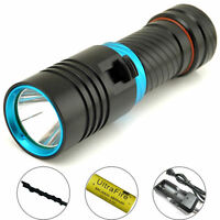 8000LM Diving Scuba XM-L2 LED 100m Waterproof  Flashlight Torch + Charger