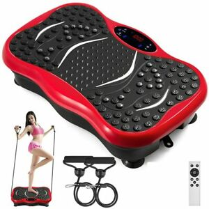 Zing Red Vibration Power Plate with Bluetooth Speakers 5 Programmable Modes UK