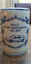 Vtg Delft Blue White Tercel Mug Tankard Stein Toyota Dealer Meeting Juli 1982