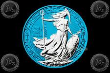 UK / BRITANNIA 2 POUNDS 2019 ( ORIENTAL BORDER ) 1oz SILVER Coin * SPACE BLUE