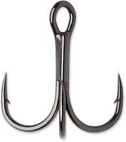 VMC Hybrid Treble Hook 1X Black Nickel 4 Pack - Bass Fishing Terminal Tackle