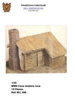 WWII casa rusa troncos madera 1:35 russian house grunts wood