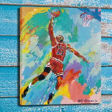 LeRoy Neiman Michael Jordan Oil Painting Art Print Canvas Home Wall Decor 16x20