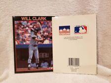 VERY RARE Will Clark 1989 Starline Greeting Card, San Francisco Giants, NICE!