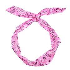 Accessoires de coiffure bandeaux roses en tissu pour femme
