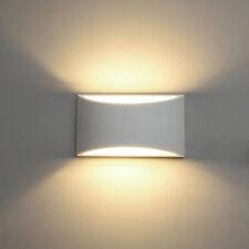 Applique da parete gesso verniciabile doppia emissione attacco g9 lampada ip20