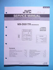 Servicio Manual de instrucciones para JVC mx-d551 TR, original