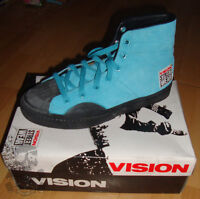 VISION STREET WEAR '80s Suede Skateboard Shoes Turquoise Blue Hi  3 UK / 4 USA