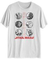 STAR WARS Mens T-Shirt True White Size Small S Star Wars Graphic Tee $20- 440