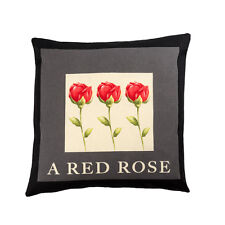 LUXURY HEAVY WEIGHT FABRIC Cotton Cushion Covers RETRO FLORAL Vintage RED ROSE