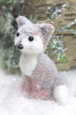 GISELA GRAHAM CHRISTMAS FLOCK  SMALL WOODLAND  FOX DECORATION