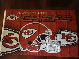 Kansas City Chiefs 3x5 Flag. US seller. Free shipping within the US