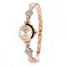 Fashion Women Stainless Steel Crystal Dial Quartz Bracelet Luxury Wrist Watches