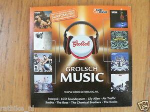 CD GROLSCH MUSIC 2007 MET 10 DAGEN GRATIS SURF2MUSIC EMI ALLEN,SAYBIA,BEES,KOOKS