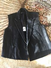 Haider Ackermann Men Leather Vest MSRP - $3595.00
