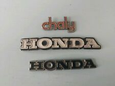 Old Honda Motorcycle Tank Badges Chaly
