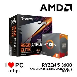 AMD Ryzen 5 3600 R5 3600 CPU + GA B550M AORUS ELITE Motherboard Suit Socket AM4