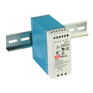 Meanwell MDR-40-24 Power Supply Ac-Dc din Uscita 24VDC 1,7A Case IN Plastic