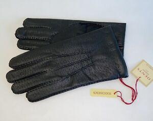 Genuine Dents leather gloves  - Black imitation peccary - Kent