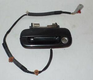 1991-1995 ACURA LEGEND DOOR HANDLE DRIVER LH LEFT W/ HARNESS  BLACK