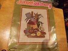"New listing Vintage Sunset Stitchery ""Lemons 'N' Things"" beginning Kit 11"" x 14"""