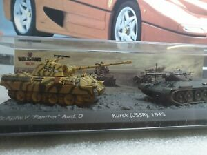 PANTHER Ausf.D & T34/76 - 1/72  SCALE MODEL DIORAMA  / WORLD OF TANKS COLLECTION