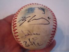 AUTOGRAPHED BASEBALL WITH 5 UNKNOWN AUTOGRAPHS - TUB BN-12