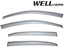WELLVISORS Side Window Visors W/ Chrome Trim Volkswagen Passat 2012-2017