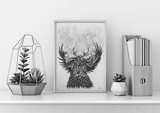 Hand Drawn Print OF World Of Warcraft/ WOW Moonkin Fan Art Gift Idea