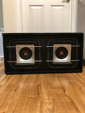 "Subwoofers - Dual 10"" Subwoofers With Box 