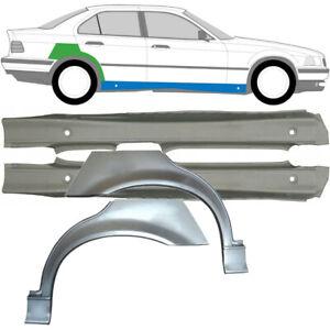 BMW 3 E36 1990-2000 SALOON 2x SILL +2x REAR WHEEL ARCH REPAIR PANEL / SET OF 4