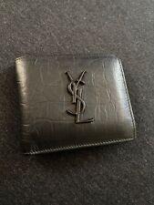 Yves Saint Laurent crocodile embossed leather wallet
