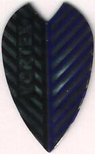 Black and Blue Vortex Dart Flights: 3 per set