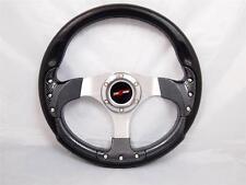 YAMAHA GOLF CART & POLARIS RHINO steering wheel W/ billet Adapter 3 spoke