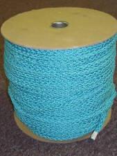 """5/16"""" Tubular braid re-braid Turquoise 100 yd"""